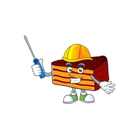 Smart automotive dobos torte presented in mascot design style. Vector illustration Imagens - 143957527