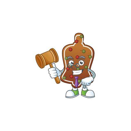 Charismatic Judge gingerbread bell cartoon character design with glasses. Vector illustration Illusztráció