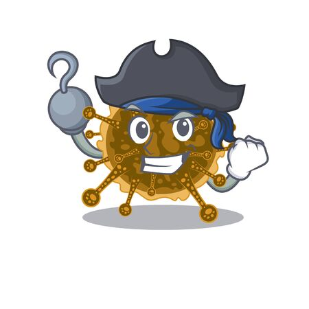 negarnaviricota cartoon design style as a Pirate with hook hand and a hat. Vector illustration