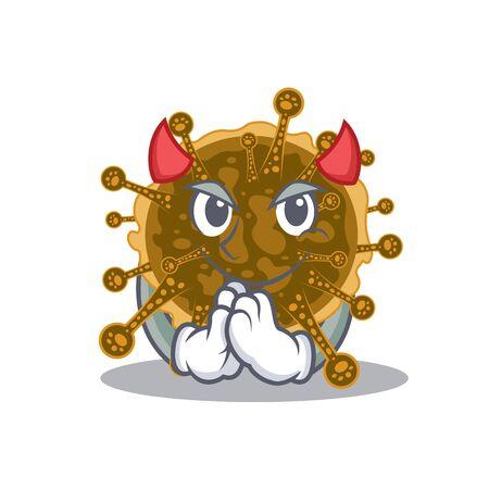 negarnaviricota dressed as devil cartoon character design style. Vector illustration