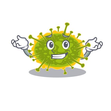 A picture of grinning insthoviricetes cartoon design concept. Vector illustration