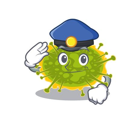 Police officer mascot design of insthoviricetes wearing a hat. Vector illustration