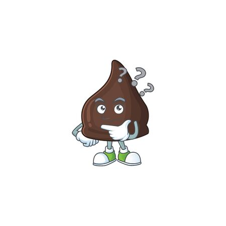 Chocolate conitos mascot design concept having confuse gesture. Vector illustration Vetores