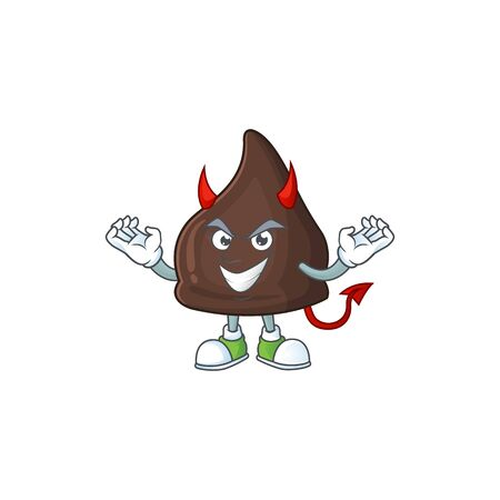 A picture of devil chocolate conitos cartoon character design. Vector illustration