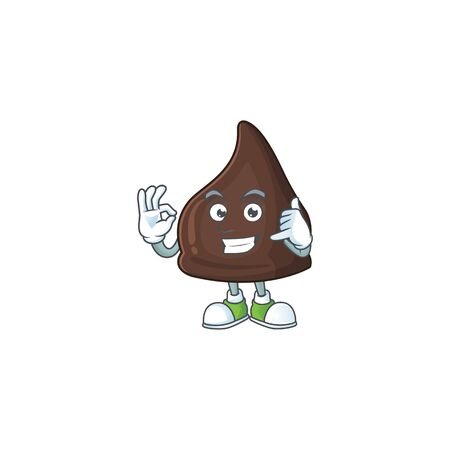 Chocolate conitos mascot cartoon design make a call gesture. Vector illustration