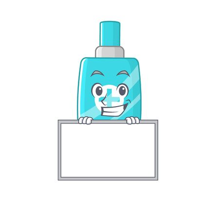 Smiling ointment cream cartoon design style has a board. Vector illustration
