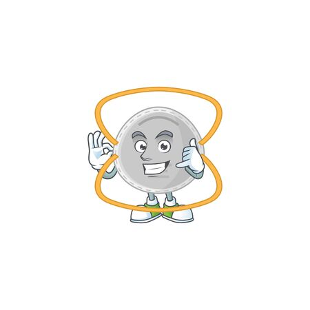 N95 mask mascot cartoon design make a call gesture. Vector illustration