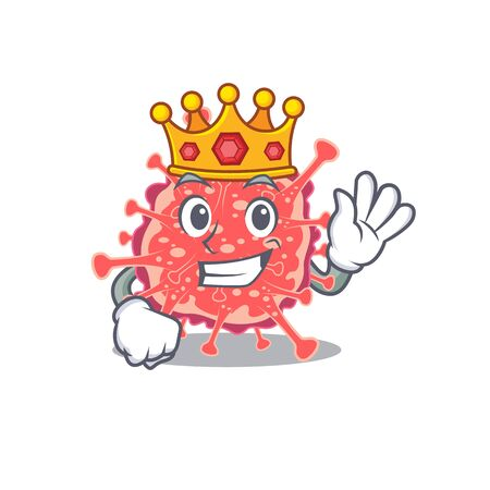 A Wise King of polyploviricotina mascot design style. Vector illustration