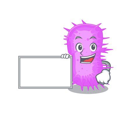 acinetobacter baumannii cartoon character design style with board. Vector illustration Illustration