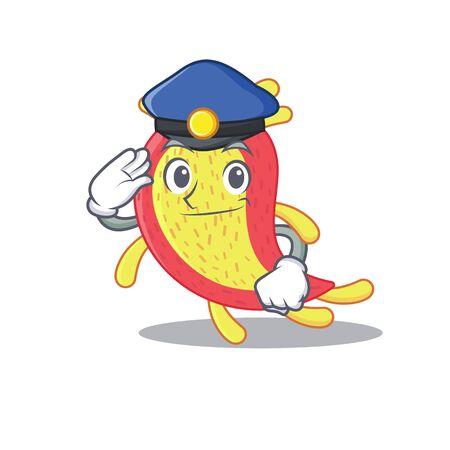 Police officer mascot design of azorhizobium caulinodans wearing a hat