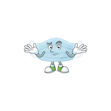 An image of surgery mask in grinning mascot cartoon style. Vector illustration