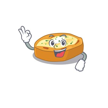 Baked potatoes mascot design style with an Okay gesture finger. Vector illustration
