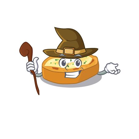 Baked potatoes sneaky and tricky witch cartoon character
