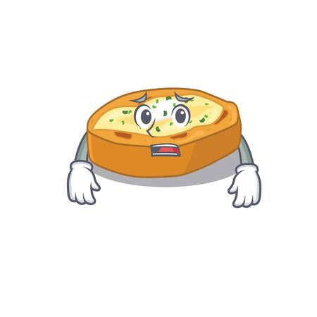 Cartoon design style of baked potatoes showing worried face