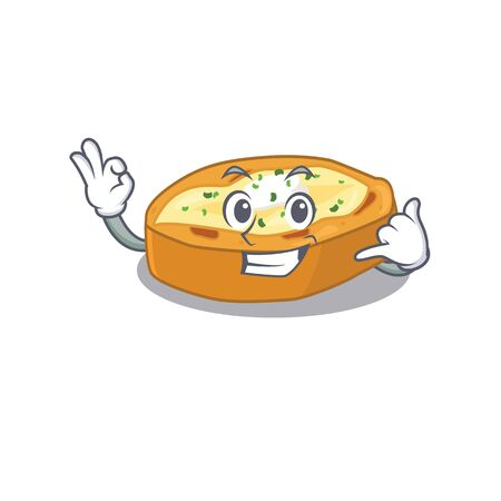 Cartoon design of baked potatoes with call me funny gesture