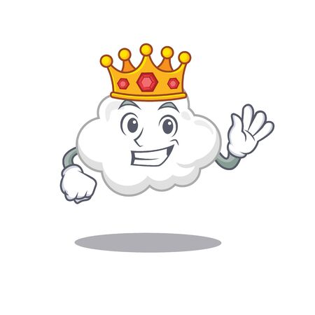 A Wise King of white cloud mascot design style 矢量图像