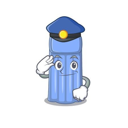 Police officer mascot design of water mattress wearing a hat. Vector illustration
