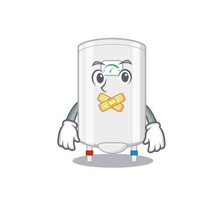 Gas water heater cartoon character style with mysterious silent gesture.Vector illustration Ilustracje wektorowe