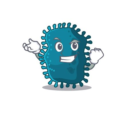 A dazzling clostridium mascot design concept with happy face. Vector illustration