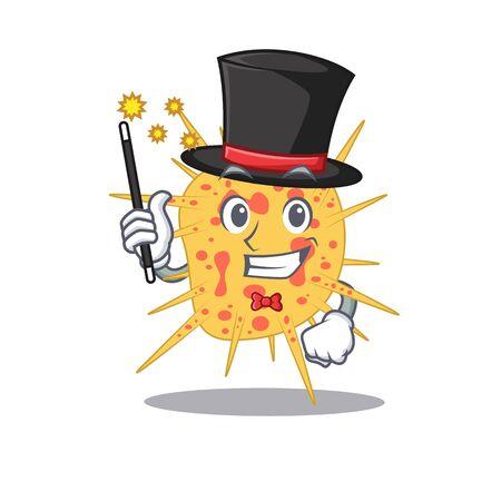 An attractive Magician of mycobacterium kansasii cartoon design