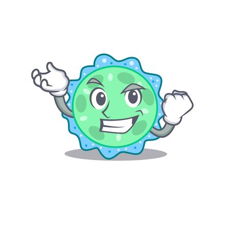A dazzling pseudomonas aeruginosa mascot design concept with happy face