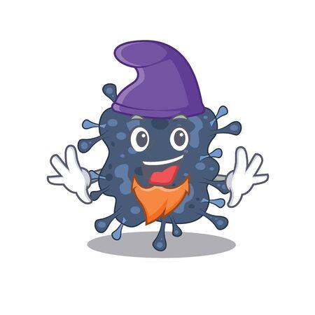 Cute picture of bacteria neisseria in Elf cartoon design. illustration