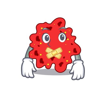 Streptococcus pneumoniae cartoon character style with mysterious silent gesture