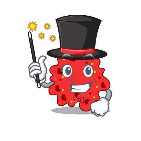 An attractive Magician of streptococcus pneumoniae cartoon design