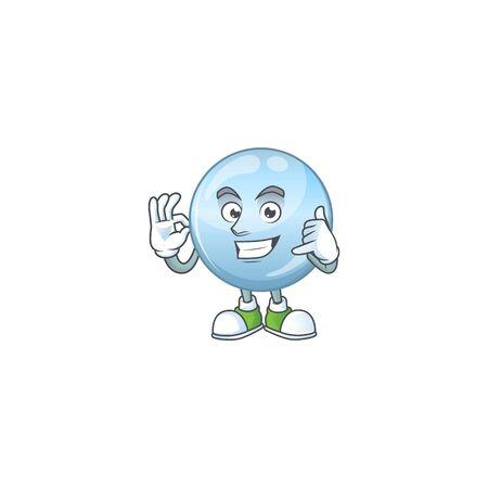 Collagen droplets mascot cartoon design make a call gesture