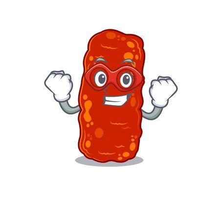 A cartoon character of acinetobacter bacteria performed as a Super hero Ilustração