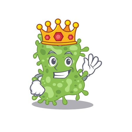 A Wise King of salmonella enterica mascot design style