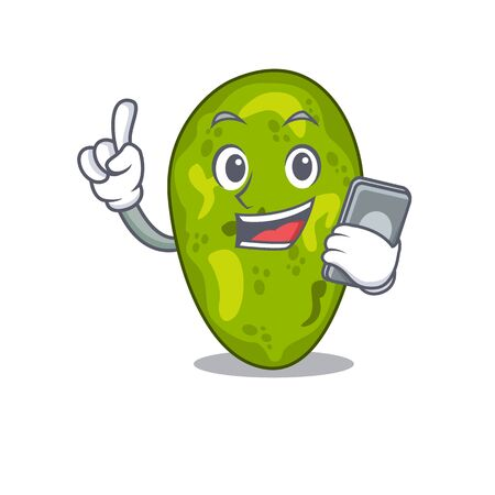 Cyanobacteria cartoon in character speaking on phone 向量圖像