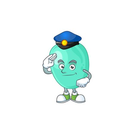 A dedicated Police officer of staphylococcus aureus mascot design style Vettoriali