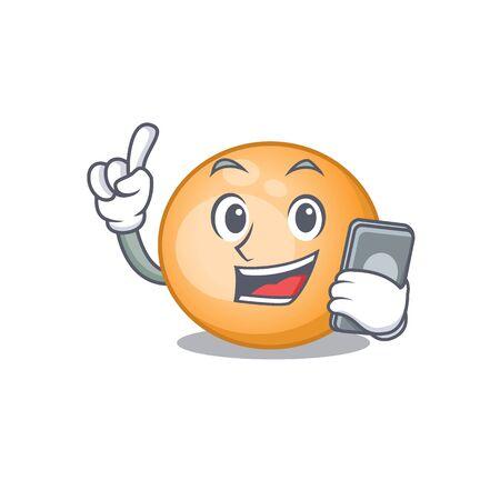 Staphylocuccus aureus cartoon character speaking on phone