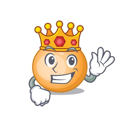 A Wise King of staphylocuccus aureus mascot design style