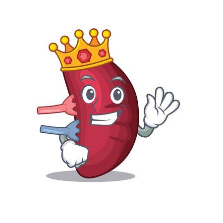 A Wise King of human spleen mascot design style Иллюстрация