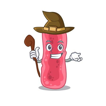 Shigella Sonnei sneaky and tricky witch cartoon character