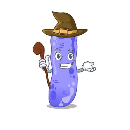 Legionella sneaky and tricky witch cartoon character
