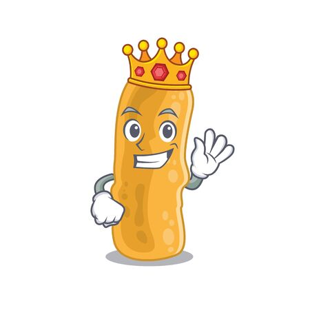 A Wise King of shigella flexneri mascot design style Vector Illustration
