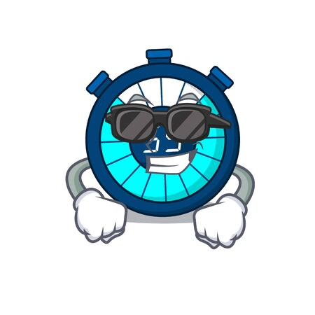 Cool hourglass cartoon character wearing expensive black glasses 向量圖像