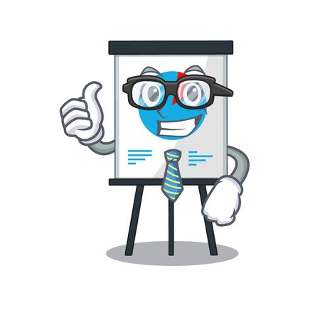An elegant corona graph Businessman mascot design wearing glasses and tie. Vector illustration Stock Illustratie