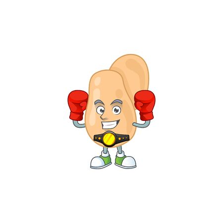 A sporty sarcina boxing athlete cartoon mascot design style.  illustration Vectores