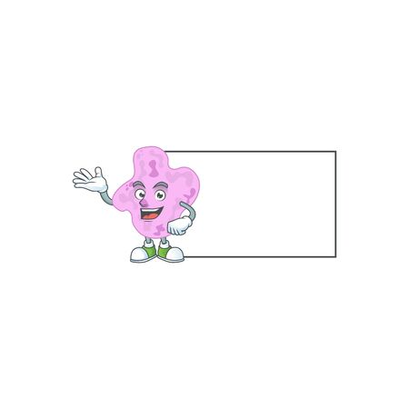 An image of tetracoccus with board mascot design style.  illustration