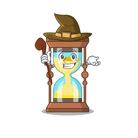 Chronometer sneaky and tricky witch cartoon character