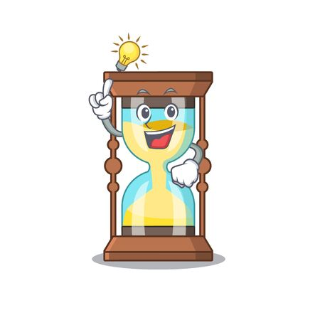 Mascot character design of chronometer with has an idea smart gesture