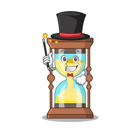 An attractive Magician of chronometer cartoon design Иллюстрация