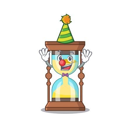 cartoon character design concept of cute clown chronometer