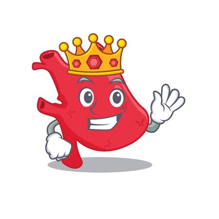 A Wise King of heart mascot design style