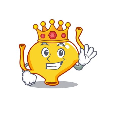 A Wise King of bladder mascot design style