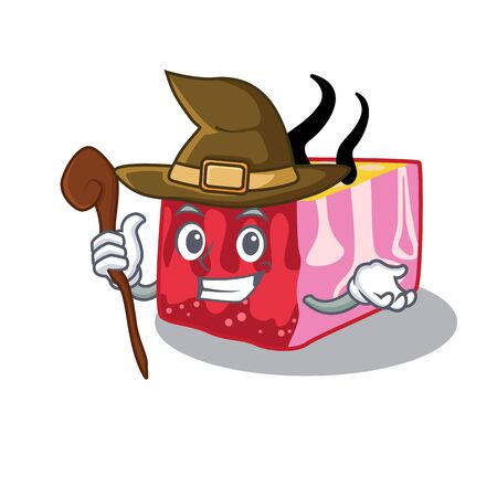 Skin sneaky and tricky witch cartoon character Ilustrace